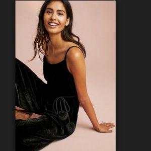 5a6ce0654e7 Anthropologie Pants - Corey Lynn Calter Margo Velvet Jumpsuit Black Wide